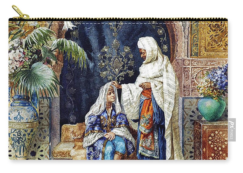 Orientalism Carry-all Pouch featuring the photograph The Bride by Munir Alawi