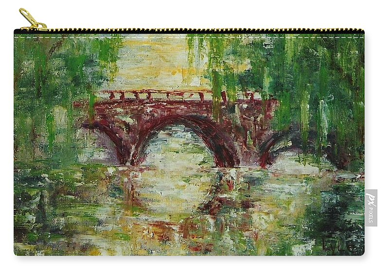 Paris Carry-all Pouch featuring the painting The Bridge by Lord Frederick Lyle Morris - Disabled Veteran