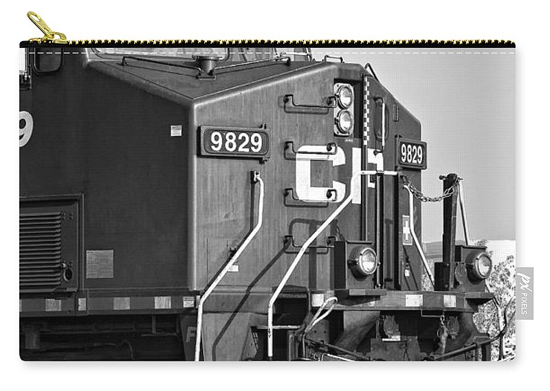 Engine Carry-all Pouch featuring the photograph The Brute Monochrome by Steve Harrington