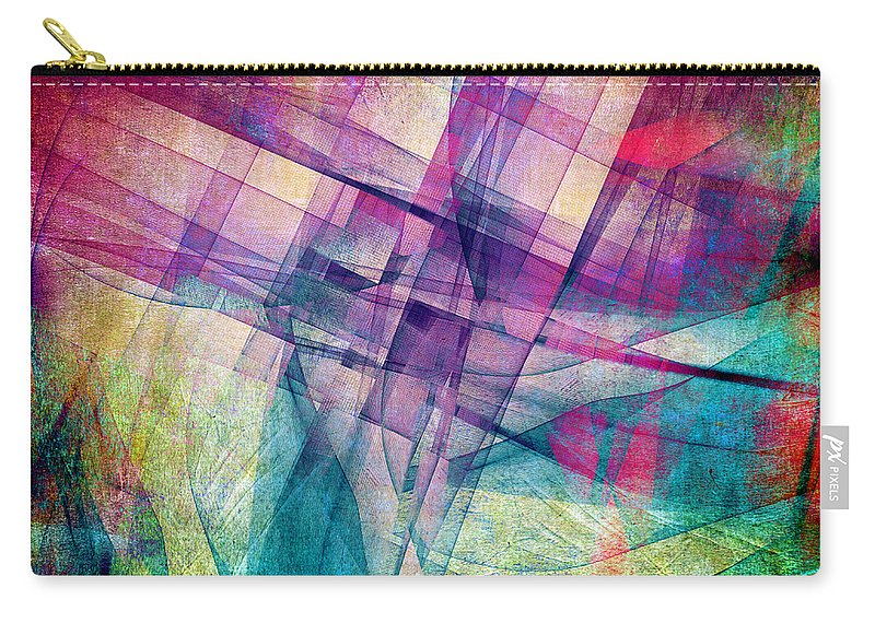 Buildings Block Carry-all Pouch featuring the digital art The Building Blocks by Angelina Tamez