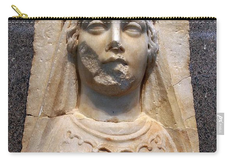Aphrodisias Carry-all Pouch featuring the photograph The Bust Of Aphrodite by Taiche Acrylic Art