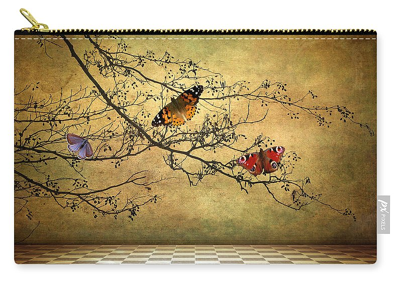 Fantasy Carry-all Pouch featuring the photograph The Butterfly Room by Jessica Jenney