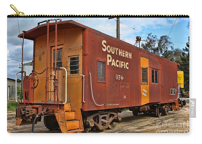 Railroad Carry-all Pouch featuring the photograph The Caboose by Tommy Anderson