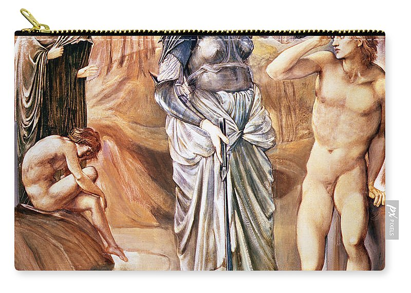 Pre-raphaelite Carry-all Pouch featuring the drawing The Call Of Perseus, C.1876 by Sir Edward Coley Burne-Jones
