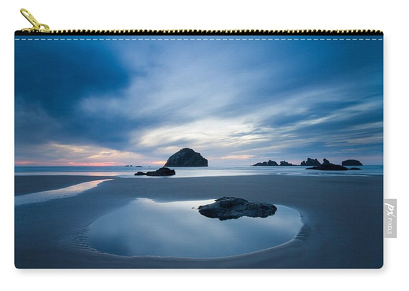 Bandon Carry-all Pouch featuring the photograph The Calm by Patricia Davidson
