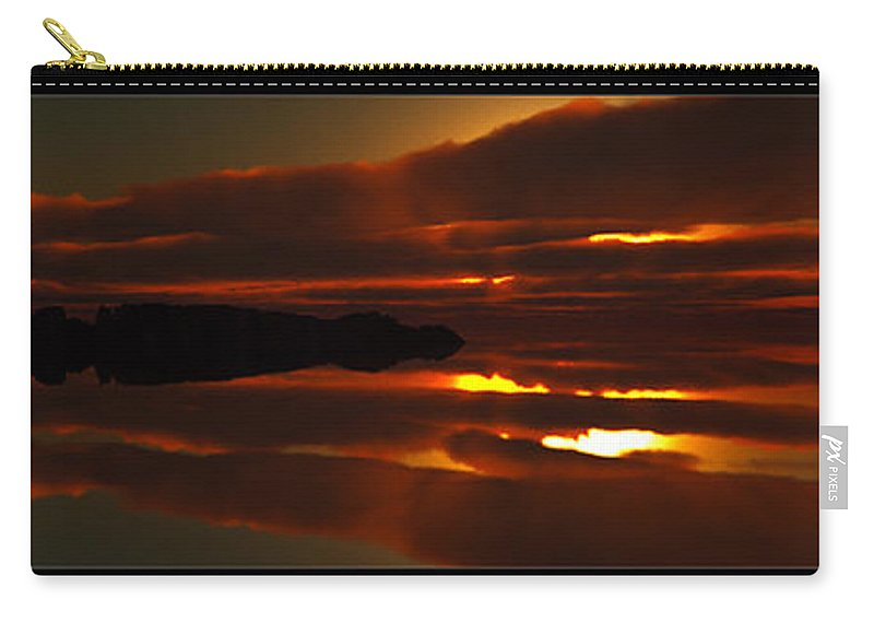 Abstract Carry-all Pouch featuring the digital art The Calmness... by Tim Fillingim