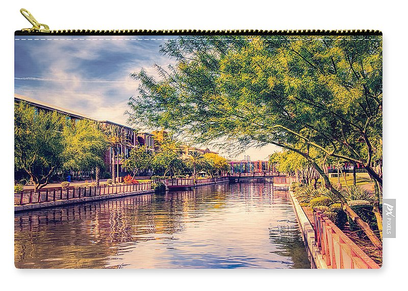 Fred Larson Carry-all Pouch featuring the photograph The Canal In Downtown Scottsdale by Fred Larson