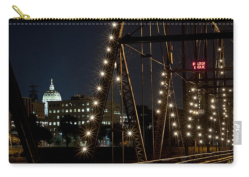 City Carry-all Pouch featuring the photograph The Capitol Of Harrisburg by Deborah Klubertanz