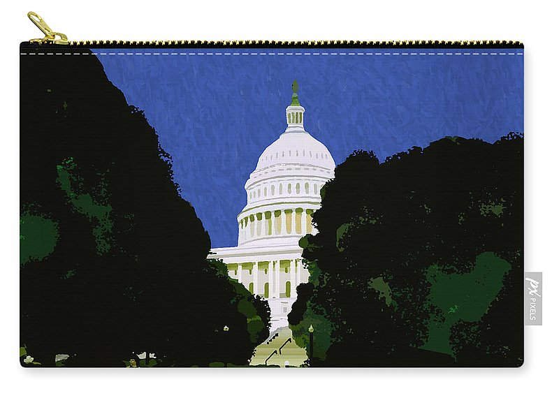 Capitol Carry-all Pouch featuring the painting The Capitol by Pharris Art