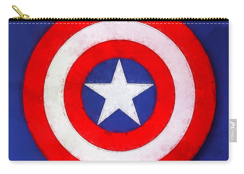 Captain Carry-all Pouch featuring the painting The Captain's Shield by Sandy MacGowan