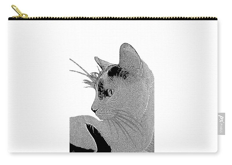 Cat Carry-all Pouch featuring the photograph The Cat by Ben and Raisa Gertsberg