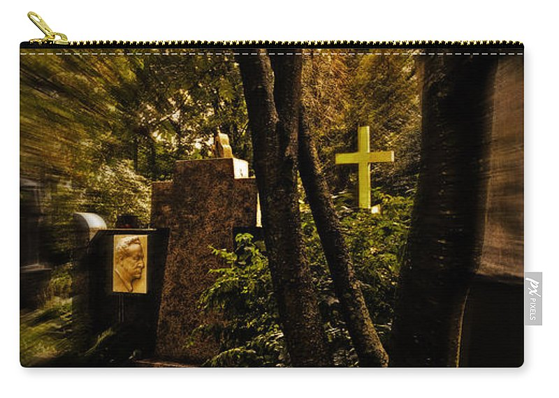 Cemetery Carry-all Pouch featuring the photograph The Cemetery by Madeline Ellis