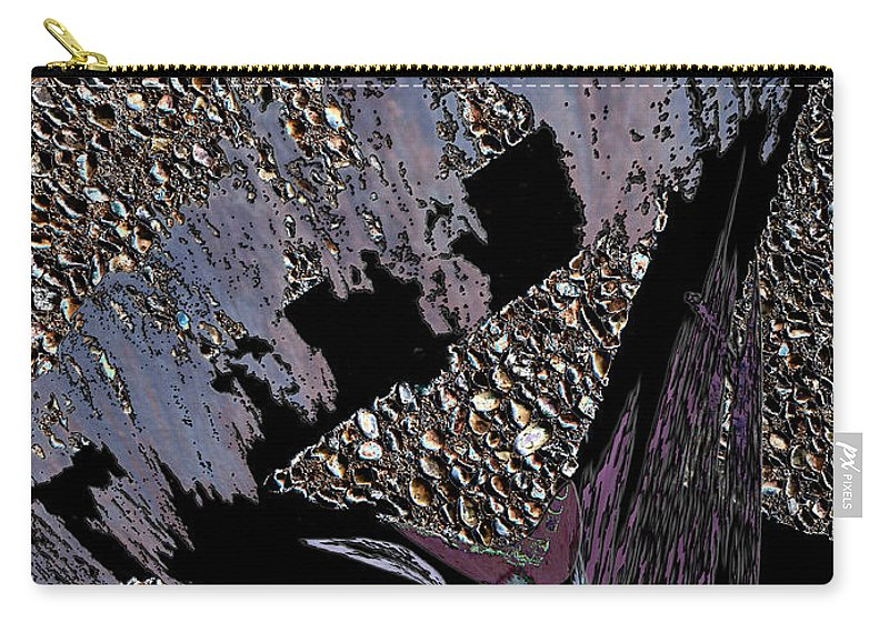 Abstract Carry-all Pouch featuring the photograph The Center by Linda Dunn