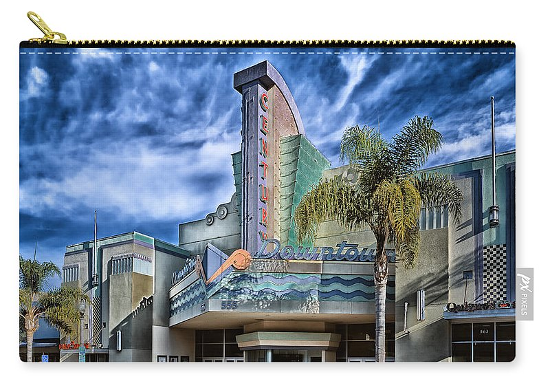 The Century Theatre Carry-all Pouch featuring the photograph The Century Theatre by Mountain Dreams