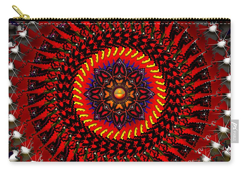 Design Carry-all Pouch featuring the digital art The Changing Of The Tide by Robert Orinski