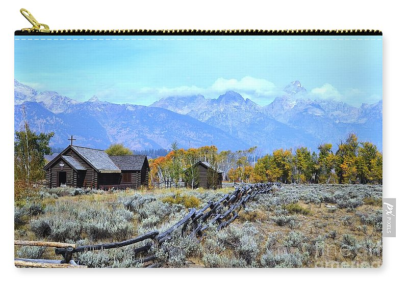 Chapel Of The Transfiguration Carry-all Pouch featuring the photograph The Chapel by Deanna Cagle