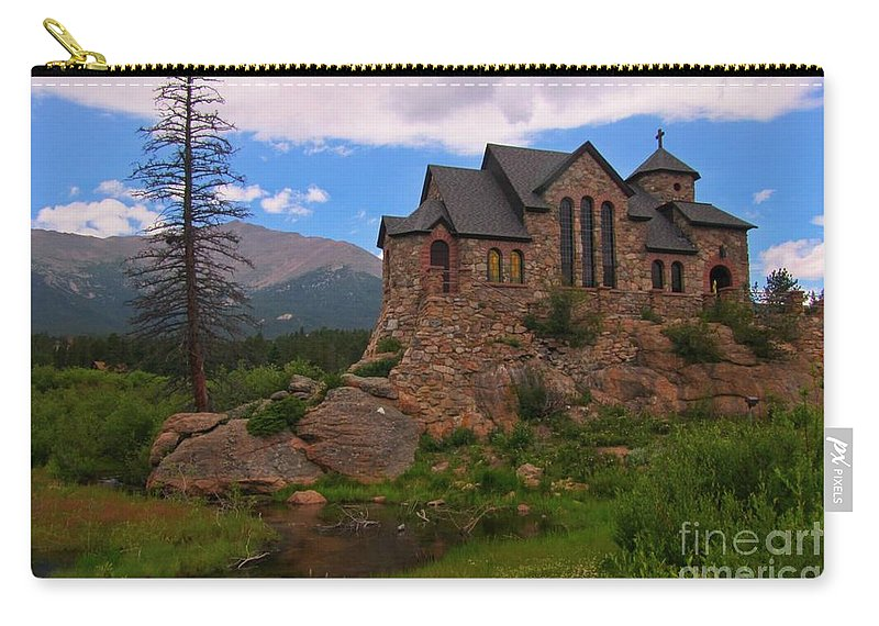 Church Art Prints Carry-all Pouch featuring the photograph The Chapel On The Rock by John Malone
