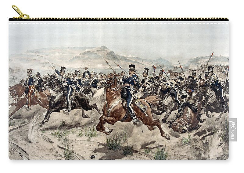 Crimean War Carry-all Pouch featuring the painting The Charge Of The Light Brigade, 1895 by Richard Caton Woodville