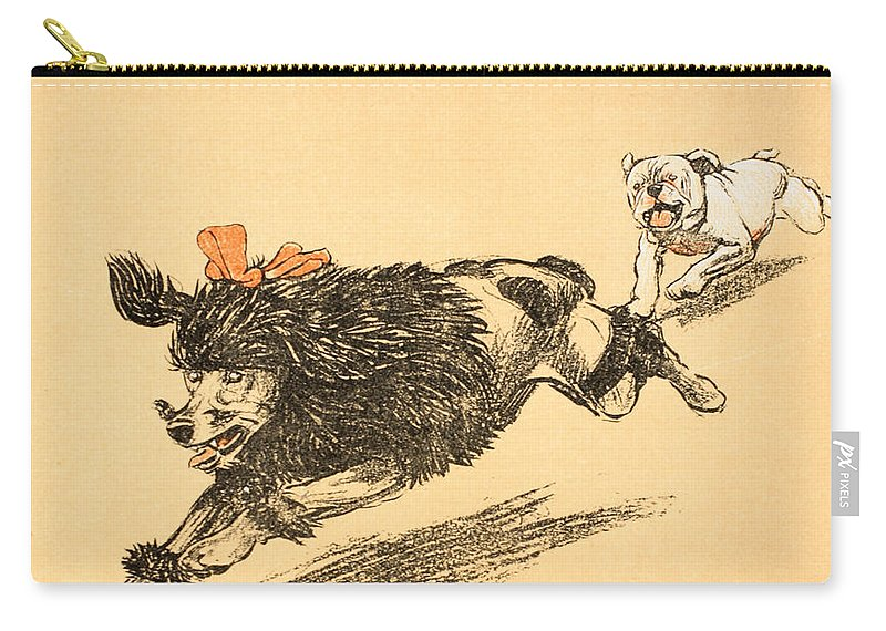 Aldin Carry-all Pouch featuring the painting The Chase by Cecil Charles Windsor Aldin