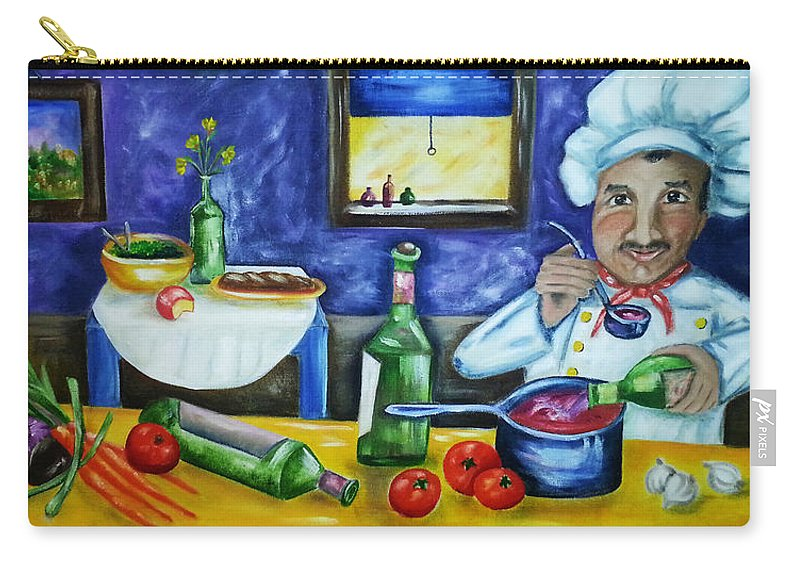 Chef Carry-all Pouch featuring the painting The Chef by Diana Haronis