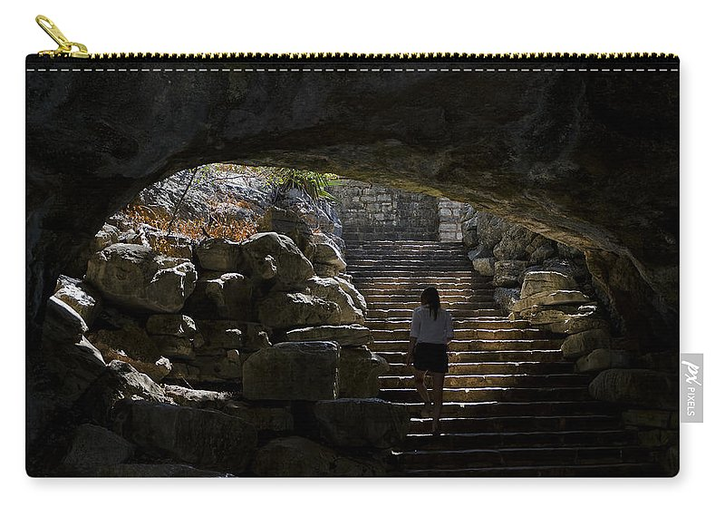 Grotto Carry-all Pouch featuring the photograph The Child Ascends by Greg Reed