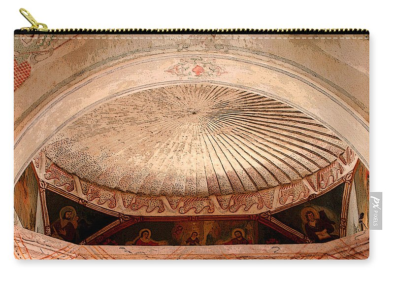San Xavier Del Bac Carry-all Pouch featuring the photograph The Choir Loft by Joe Kozlowski