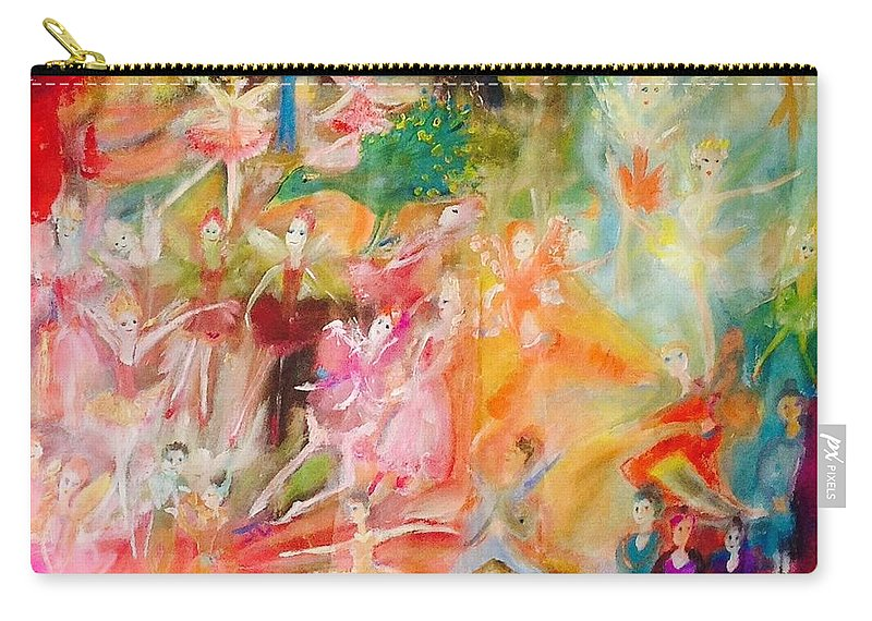 Ballet Carry-all Pouch featuring the painting The Christmas Ballet by Judith Desrosiers