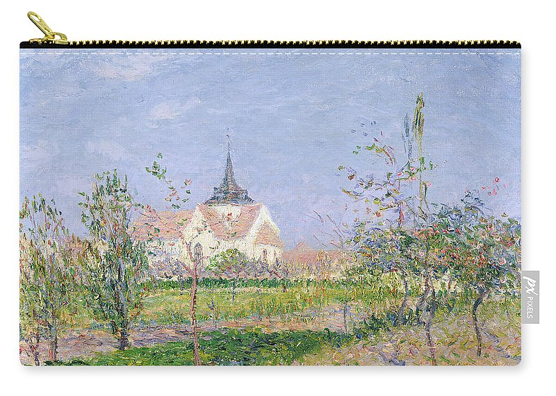 Impressionist Carry-all Pouch featuring the painting The Church At Vaudreuil by Gustave Loiseau