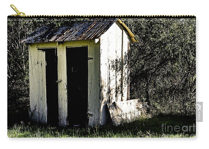 Church Carry-all Pouch featuring the photograph The Church Outhouse by Gary Richards