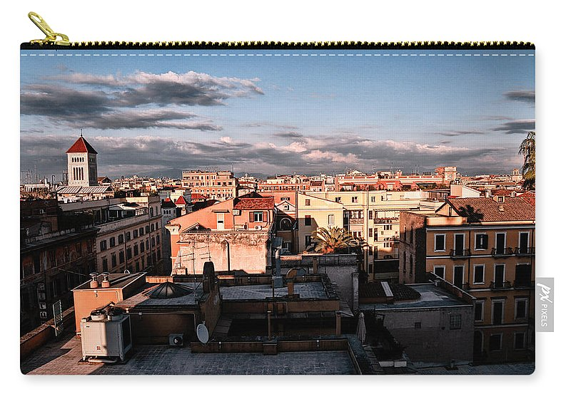 Carry-all Pouch featuring the photograph The City by Bill Howard