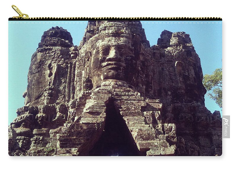 Arch Carry-all Pouch featuring the photograph The City Gates At Angkor by Lasse Kristensen