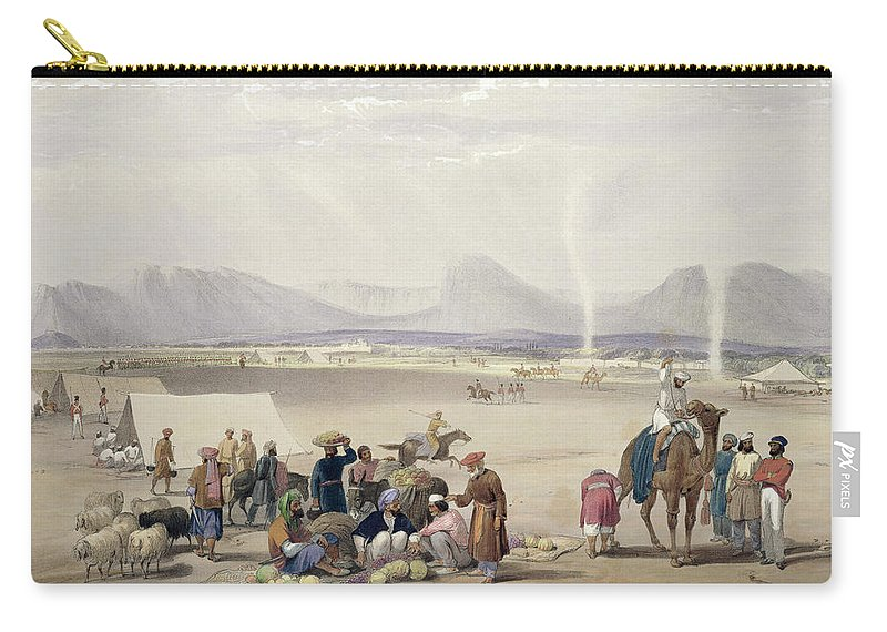 Kandahar Carry-all Pouch featuring the drawing The City Of Candahar, From Sketches by James Atkinson