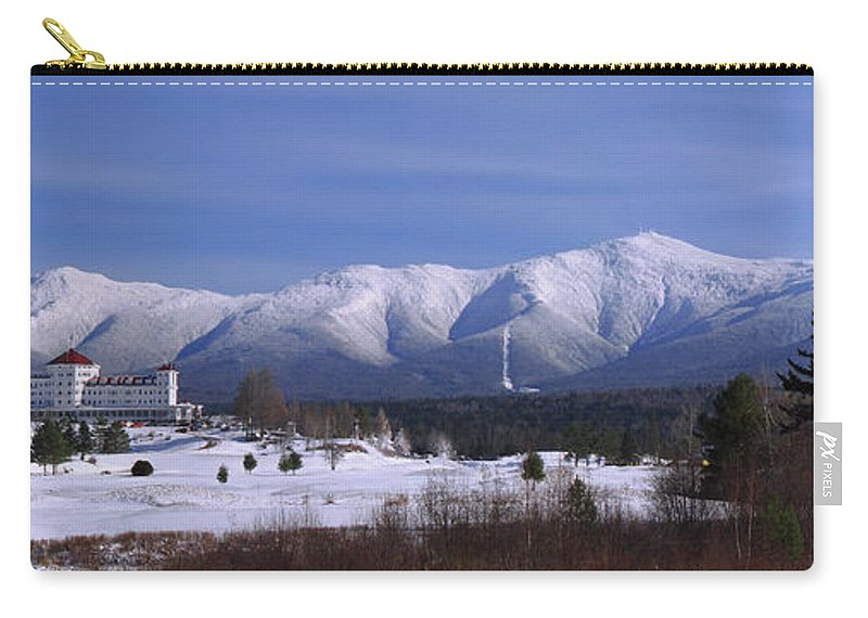 New Hampshire Carry-all Pouch featuring the photograph The Classic Mount Washington Hotel Shot by Chris Whiton