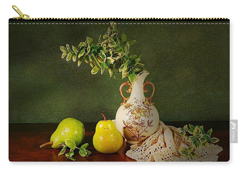 Still Life Carry-all Pouch featuring the photograph The Classical Urn by Diana Angstadt
