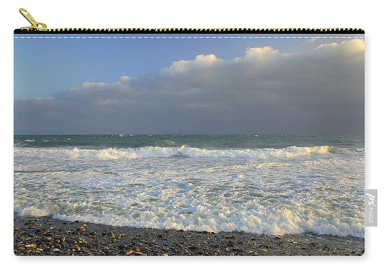 Seascape Carry-all Pouch featuring the photograph The Cloud by Guido Montanes Castillo