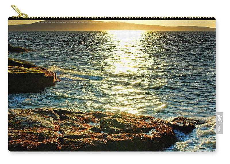 Maine Carry-all Pouch featuring the photograph The Coast Of Maine by Olivier Le Queinec