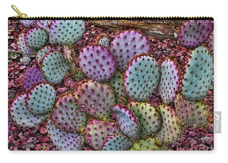 Cacti Carry-all Pouch featuring the photograph The Color Purple. by Jon Burch Photography