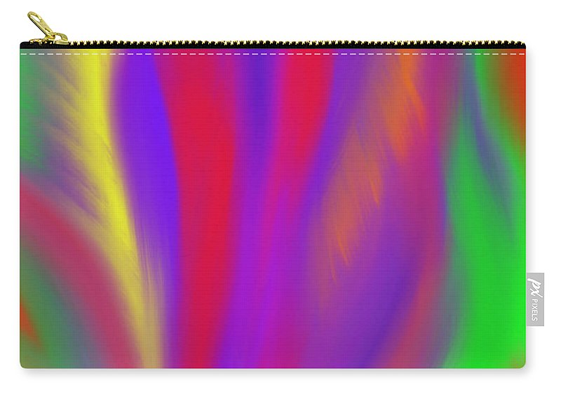 Vibrant Carry-all Pouch featuring the painting The Colors' Creation by Daina White