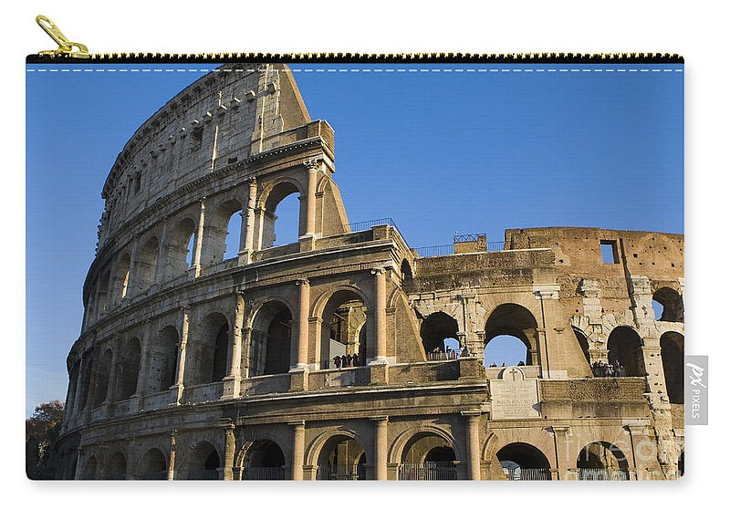 Travel Carry-all Pouch featuring the photograph The Colosseum by Jason O Watson
