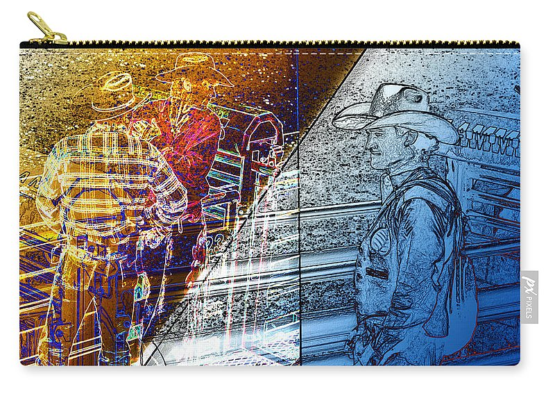 Carry-all Pouch featuring the photograph The Competitors by David Pantuso