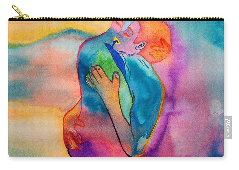 Couple Carry-all Pouch featuring the painting The Couple Image 2 by Melissa Darnell Glowacki