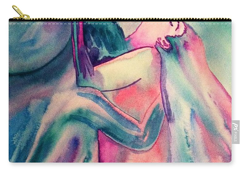 Couple Carry-all Pouch featuring the painting The Couple Image 4 by Melissa Darnell Glowacki