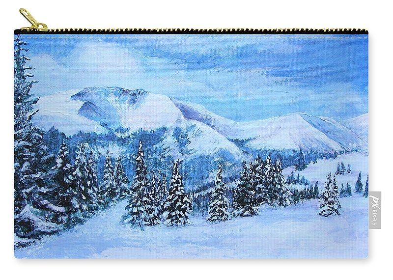 Cold Air Carry-all Pouch featuring the painting The Covering by Margaret Bobb