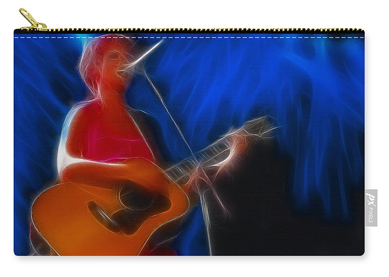 The Cranberries Carry-all Pouch featuring the photograph The Cranberries-dolores-1-fractal by Gary Gingrich Galleries