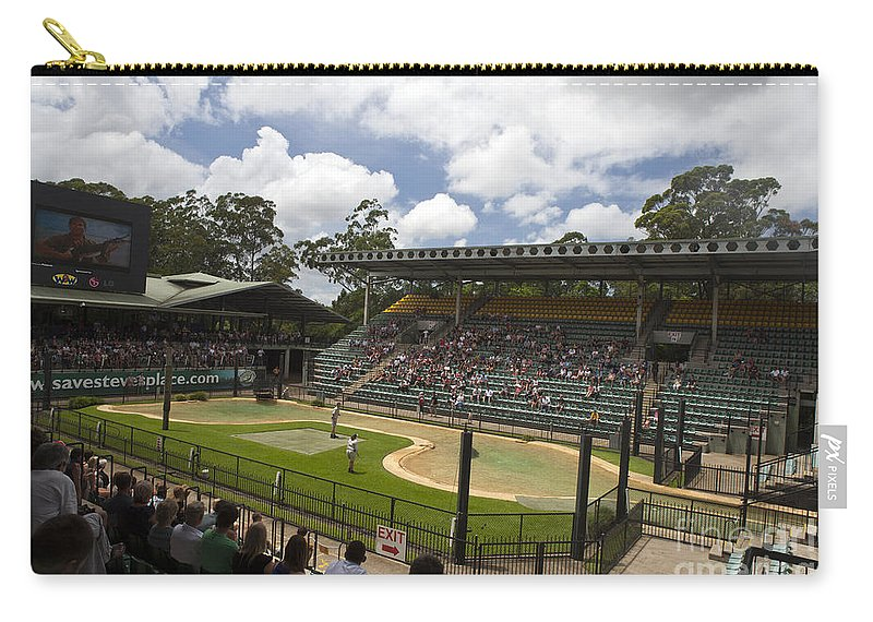The Crocoseum Carry-all Pouch featuring the photograph The Crocoseum At The Australia Zoo by Jason O Watson