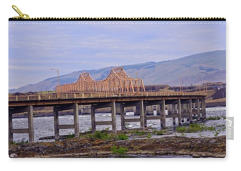 The Dalles Carry-all Pouch featuring the photograph The Dalles 2013 by Image Takers Photography LLC