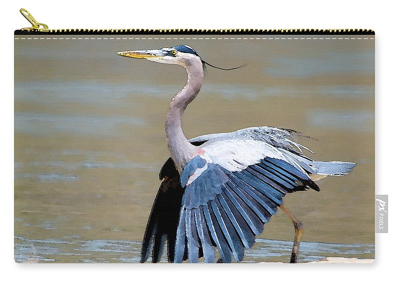 Heron Carry-all Pouch featuring the photograph The Dance by Betty LaRue