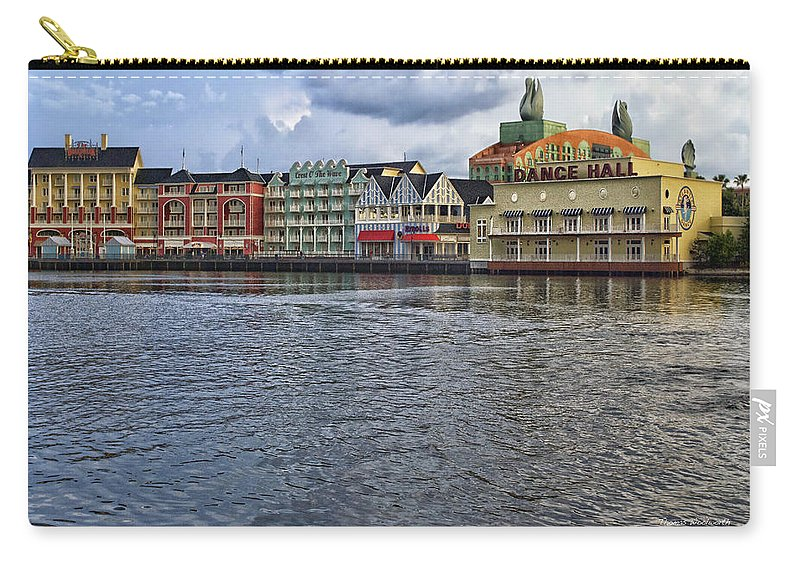 Boardwalk Carry-all Pouch featuring the photograph The Dance Hall At The Boardwalk Walt Disney World by Thomas Woolworth