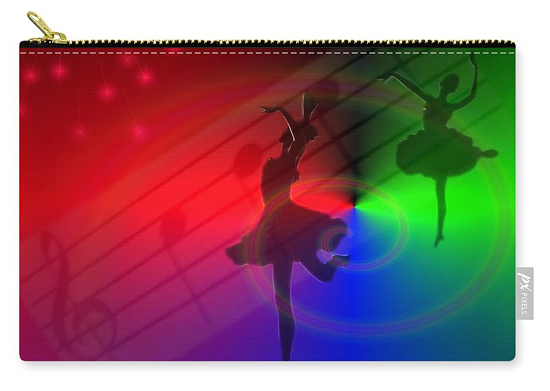 Ballerina Carry-all Pouch featuring the photograph The Dance by Joyce Dickens