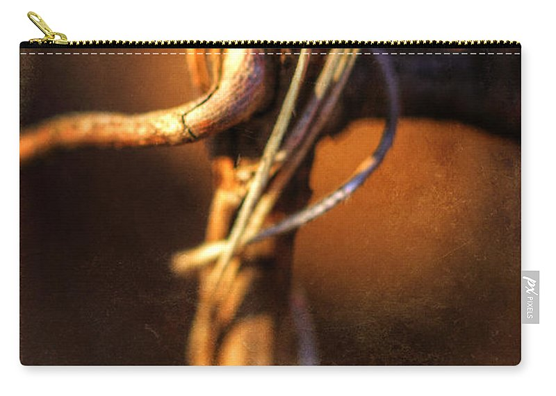 Abstract Carry-all Pouch featuring the photograph The Dance by Mother Nature